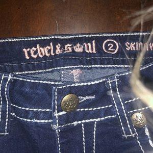 Rebel and Soul Skinny Jeans NWOT